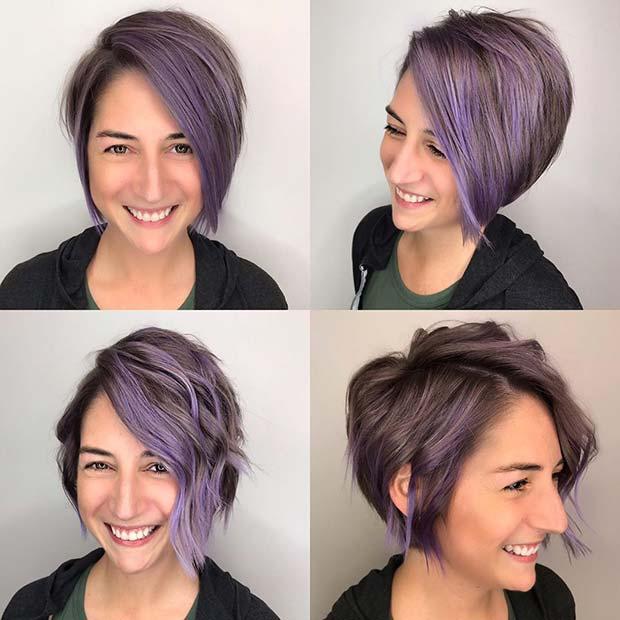 Идея светло-фиолетовых бликов