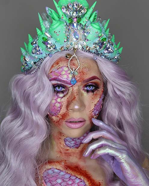 Mystical Half Mermaid Look