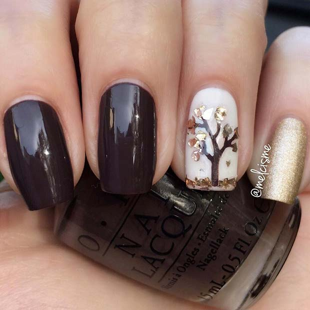 Dark Fall Nail Design