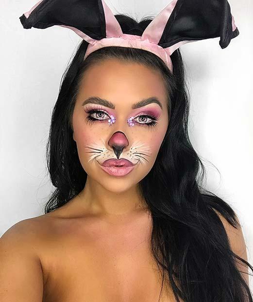 Party Bunny Makeup Idea