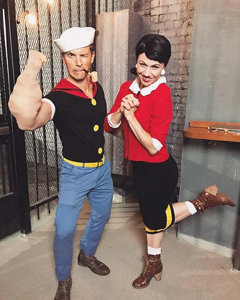 Funny Popeye and Olive Costumes