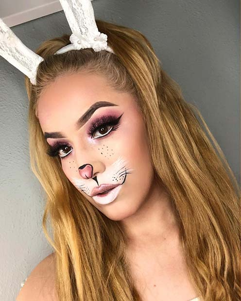 Pretty Bunny Face Makeup