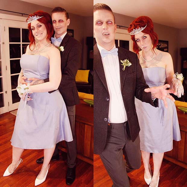 Prom Zombies Couples Costume