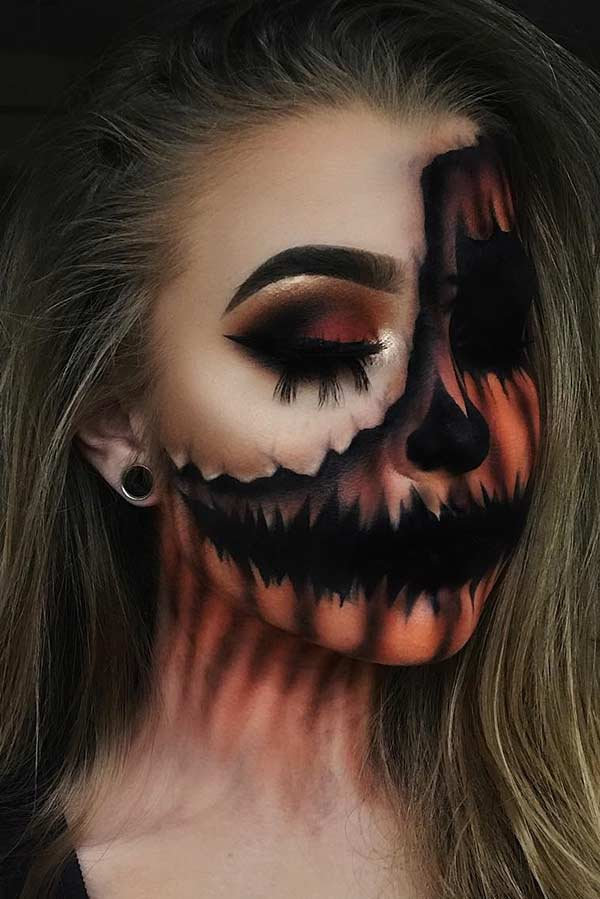 Pumpkin Illusion Makeup