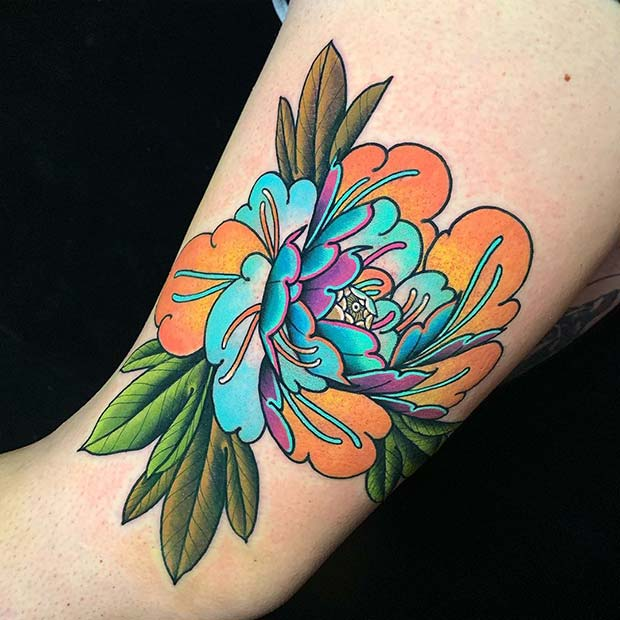 Quirky and Colorful Peony