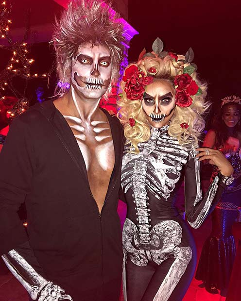 Scary Skeletons Couples Costume Idea