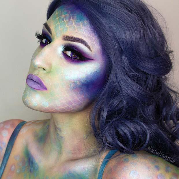 Gorgeous Mermaid Halloween Look