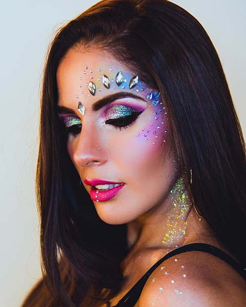 Sparkly Mermaid Makeup