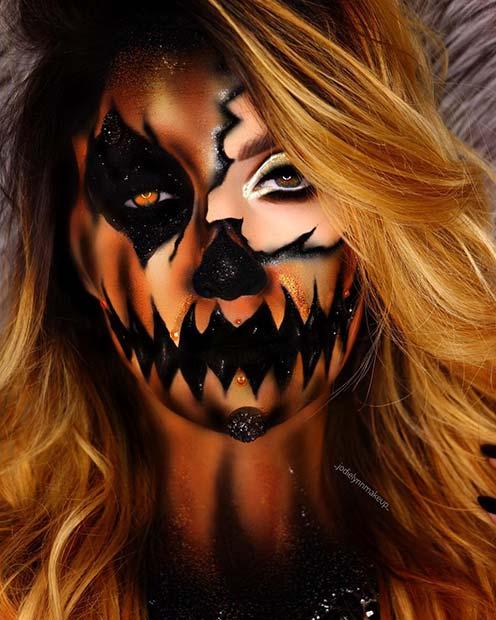 Spooky Illusion Makeup Idea