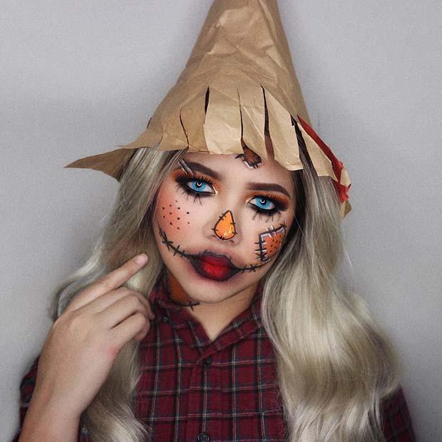 Spooky Scarecrow Makeup