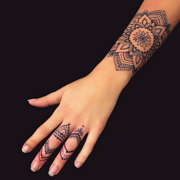 Stylish Hand and Arm Tattoos