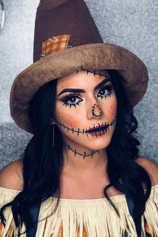 Stylish Scarecrow Makeup