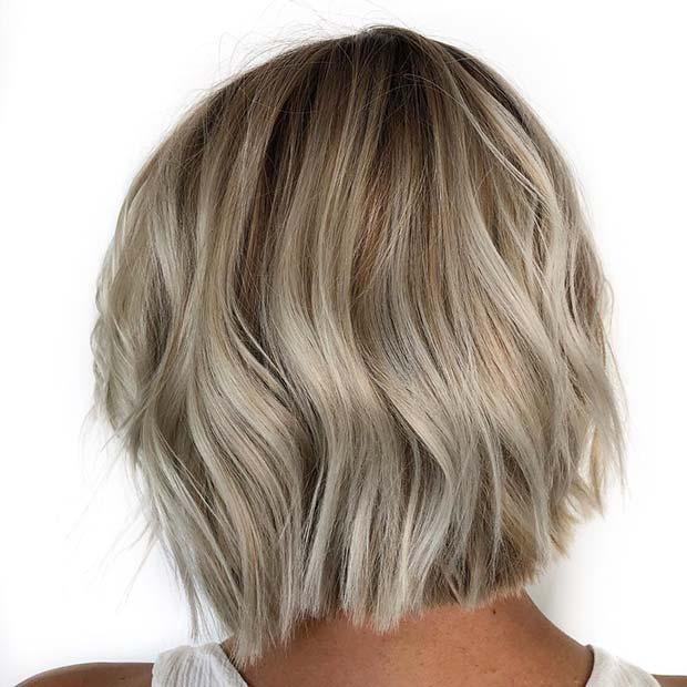 Summery Blonde Short Haircut