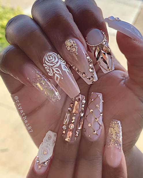 Super Glam Nail Design