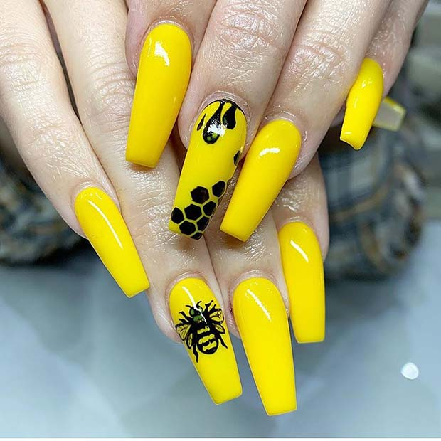 Unique Bee Nail Art