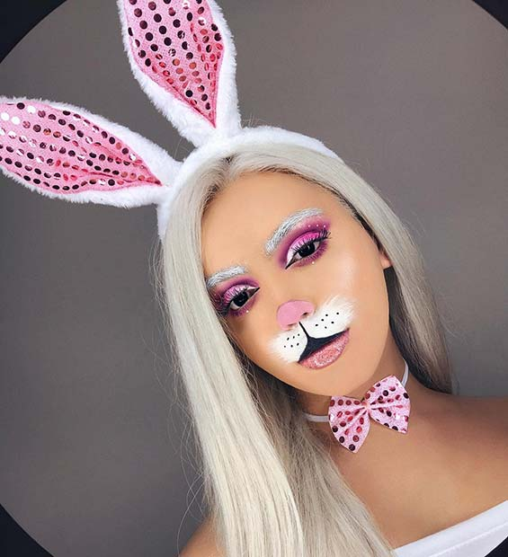 Unique Bunny Makeup