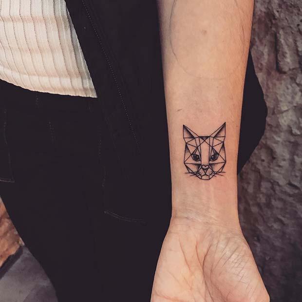 Unique Geometric Cat Design
