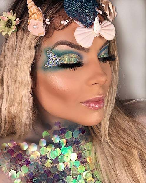 Unique Mermaid Eye Makeup