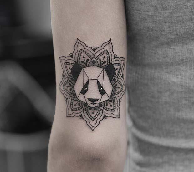 Unique Panda Tattoo Idea