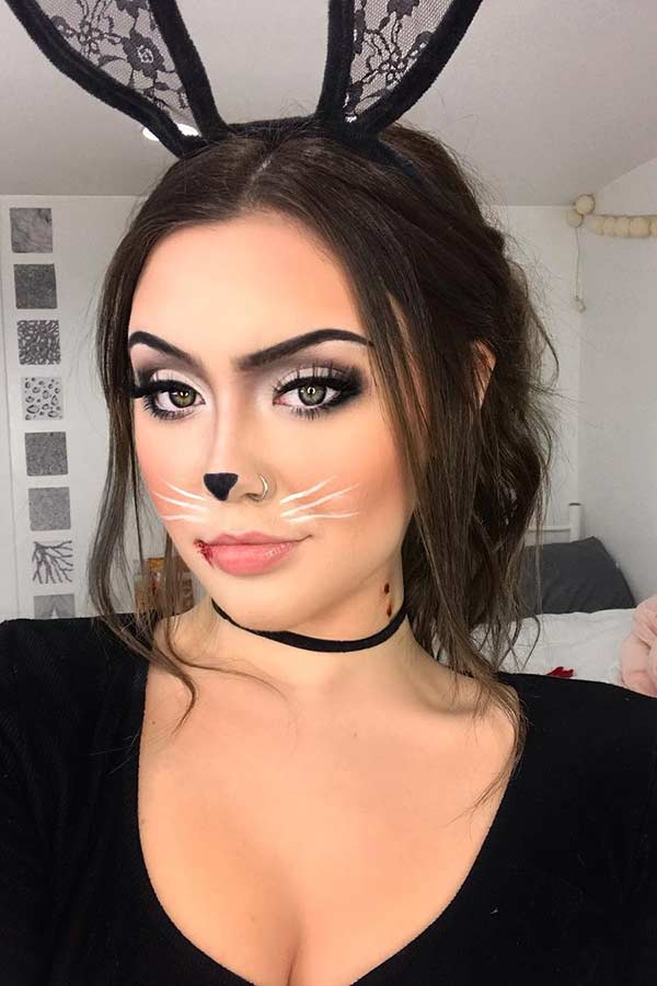 23 Bunny Makeup Ideas For Halloween Stayglam