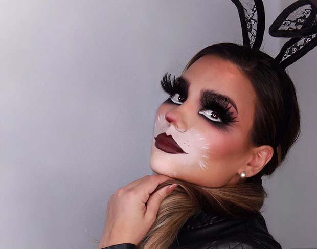 Vampy Halloween Bunny Makeup