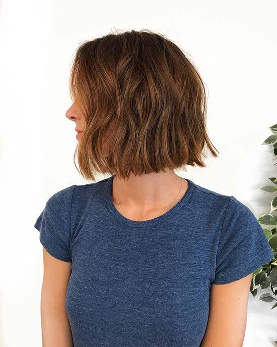 Мелирование с корицей для коротких волос