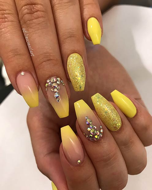 Yellow Nail Design