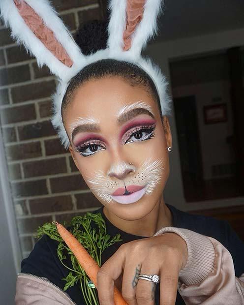 Adorable White Bunny Makeup