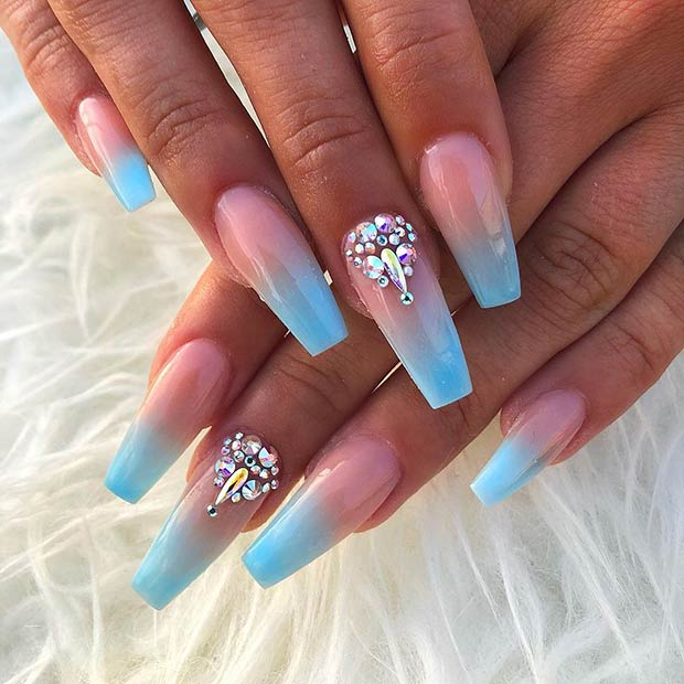 23 Stunning Ways To Wear Baby Blue Nails Page 2 Of 2 Stayglam