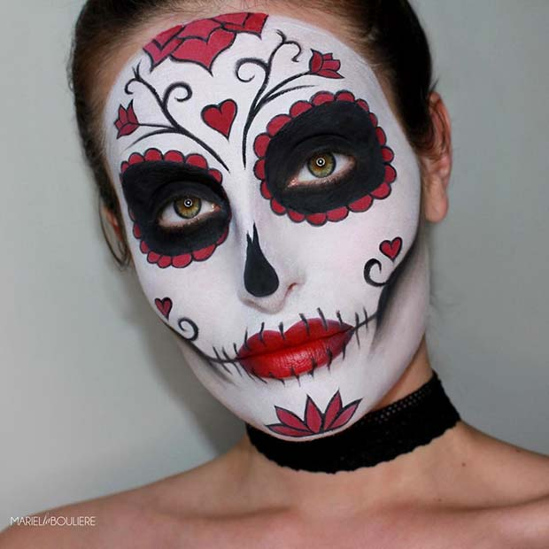 Bold Sugar Skull Makeup