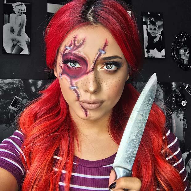 Chucky Inspired Makeup for Halloween