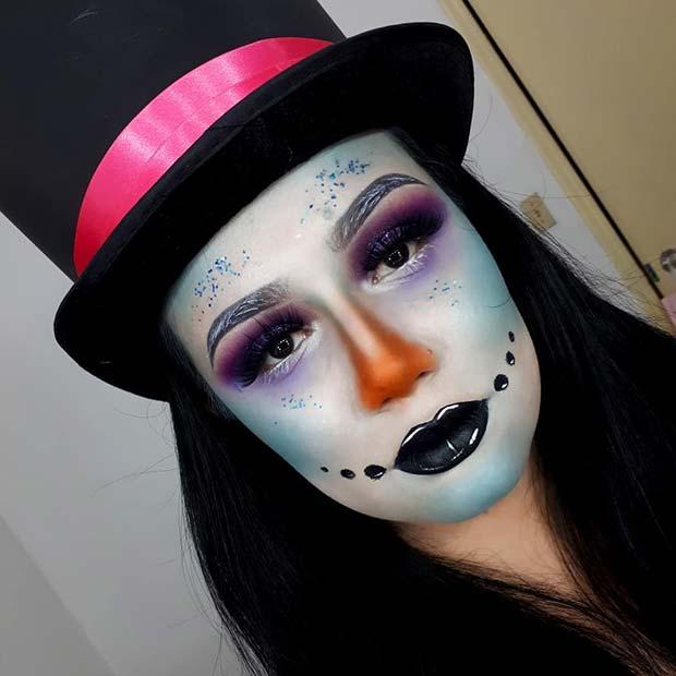 Creepy Snowman Makeup