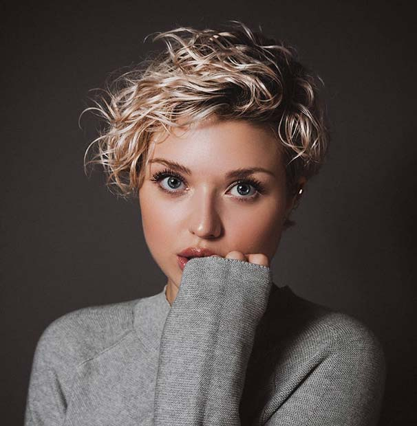 Cute Curly Pixie Hairstyle