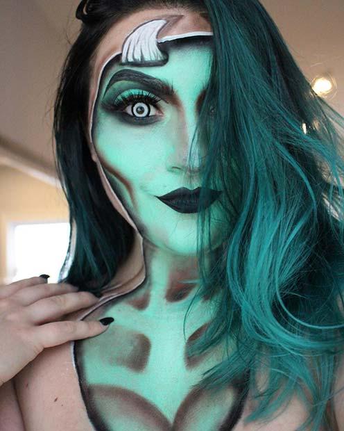 Demon Illusion Makeup Idea