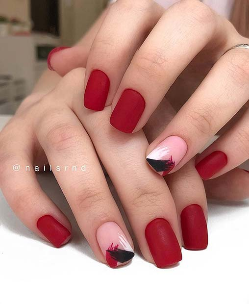 Elegant and Chic Red Nails