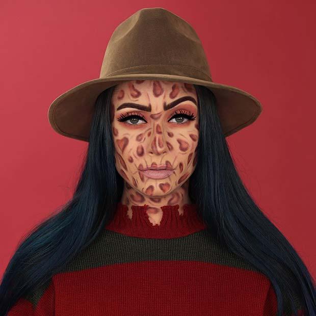 Freddy Krueger Makeup for Women