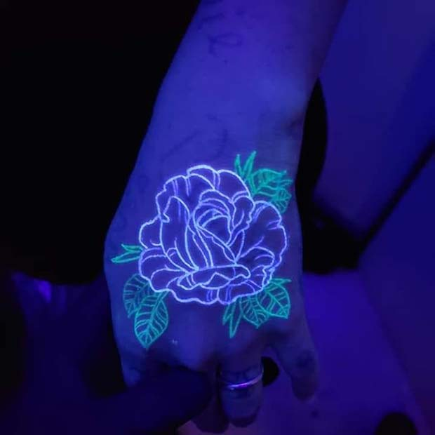 Gorgeous Flower Hand Tattoo