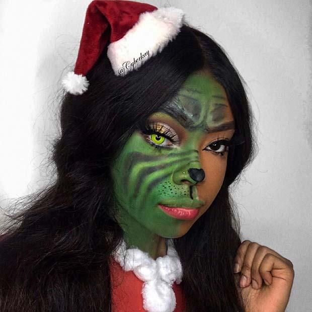 Grinch Makeup