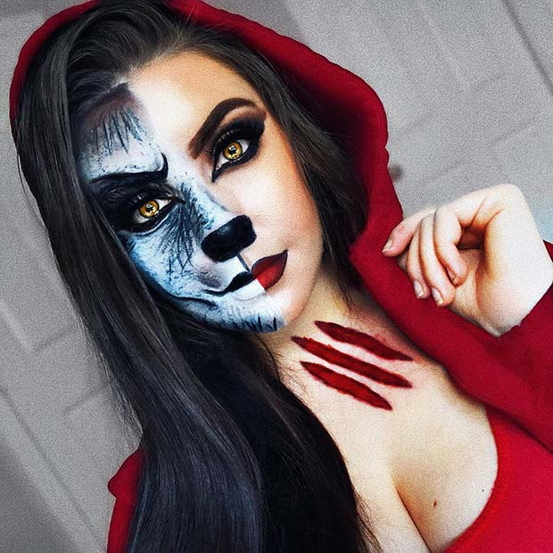 Half Red Riding Hood and Half Wolf