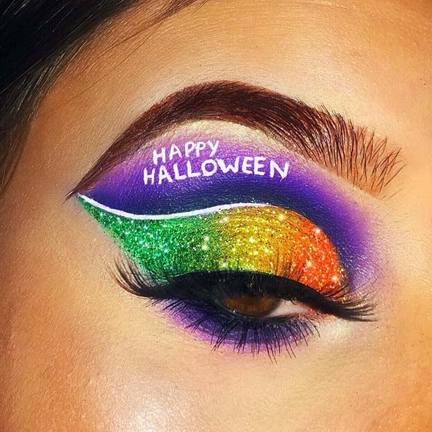 Happy Halloween Eye Makeup Idea