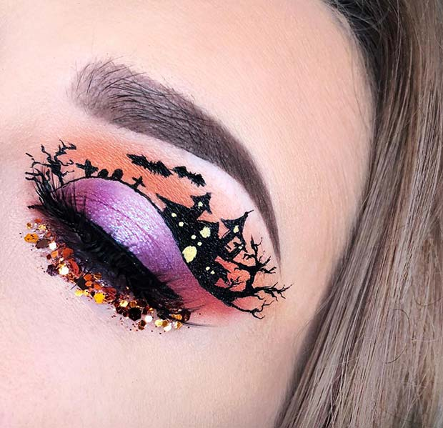 Haunted House Eye Makeup