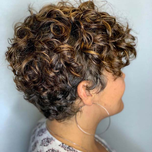 Highlighted Pixie Hairstyle