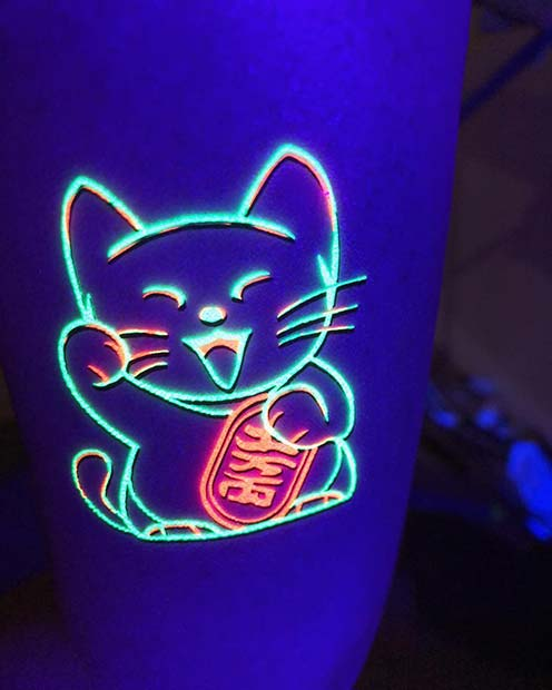 Lucky Cat Tattoo Idea