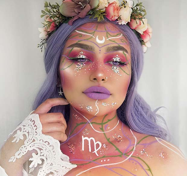 Magical Virgo Makeup For Halloween