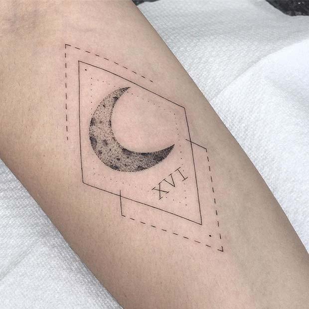 Mystical Moon Tattoo Design