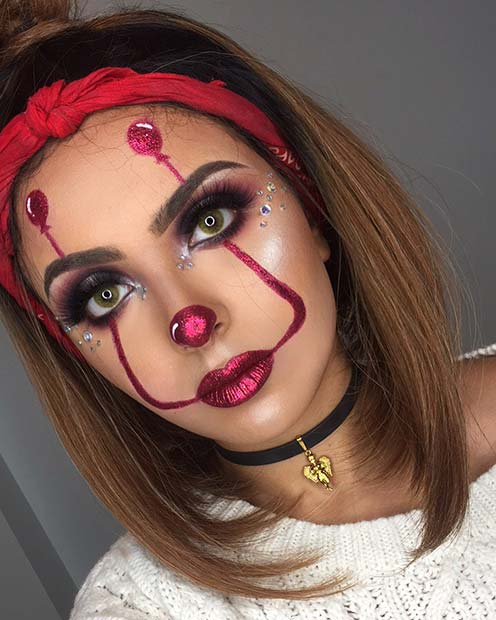 Pennywise Makeup with Balloons