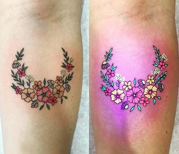 Pretty Floral Tattoo Design