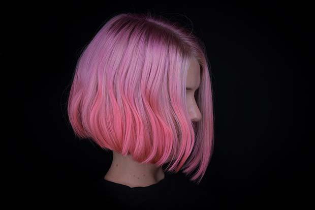 Pretty Pink Bob Haircut