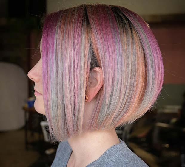 Pastel Rainbow Hair Idea