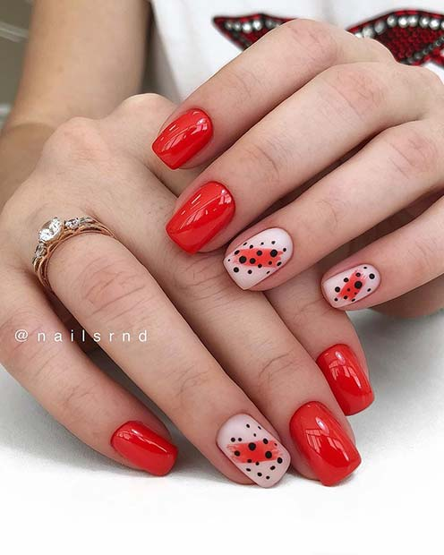 Red Nails and Polka Dots